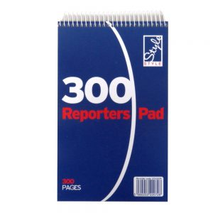 OFFICE STYLE REPORTERS FLIP TOP NOTEPAD 300 PAGES