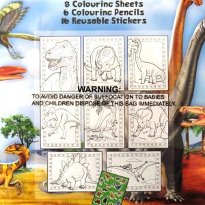 DINOSAUR COLOURING PACK - Front 2