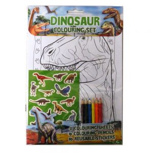 DINOSAUR COLOURING PACK