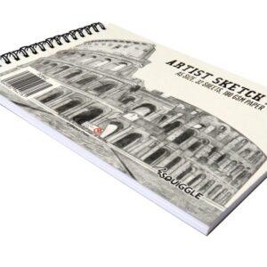 A5 WIREBOUND ARTISTS SKETCHBOOK - P2842 - Front 2