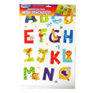 Decorate My Room Wall Animals Alphabet Stickers Front
