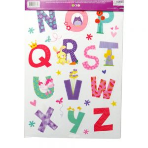 Decorate My Room Wall Cute Alphabet Stickers Front 2