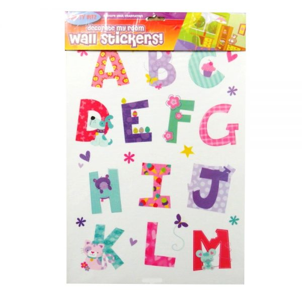 Decorate My Room Wall Cute Alphabet Stickers Front