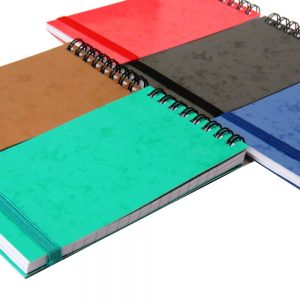 Flip Over Mini Notebbok With Straps Bright Colours Pack of 5 Front 2