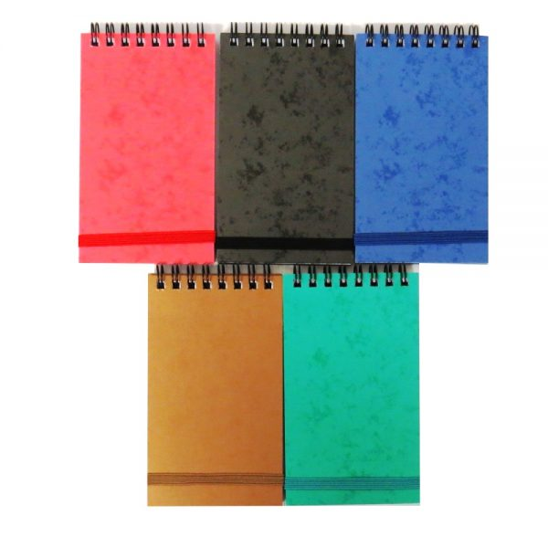 Flip Over Mini Notebbok With Strap Bold Colours Pack of 5 Front