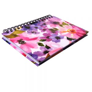 I Love Stationery A6 Wiro Notebook Watercolour Flowers Front 2