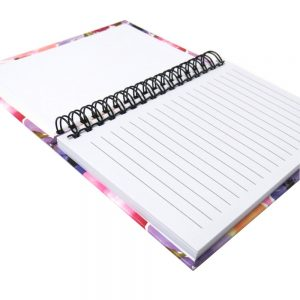 I Love Stationery A6 Wiro Notebook Watercolour Flowers Front 3