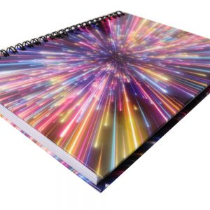 I Love Stationery A5 Wiro Notebook Fireworks Front 2
