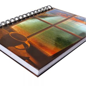 Premier A5 Wiro Notebook Journal 300 Pages Window To Paradise Front 2