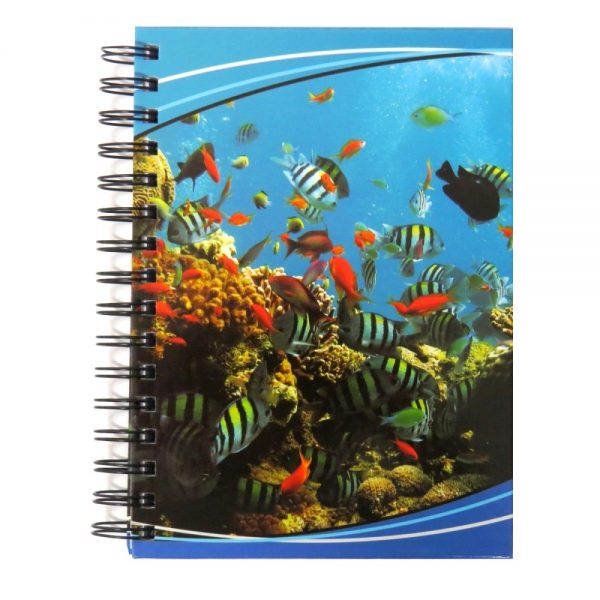 Premier A5 Wiro Notebook Journal 300 Pages Coral Reef Front
