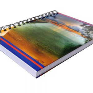 Premier A5 Wiro Notebook Journal 300 Pages Paradise Sunset Front 2