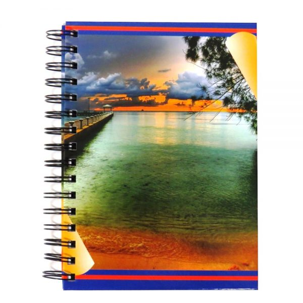 Premier A5 Wiro Notebook Journal 300 Pages Paradise Sunset Front