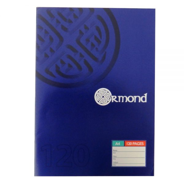 Ormond A4 Exercise Book 120 Pages Front