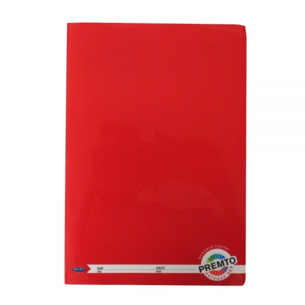 Premto A4 Exercise Book 160 Pages Ketchup Red Front