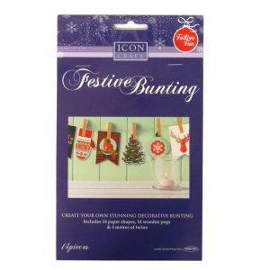 Icon Craft Make Your Own Festive Christmas Bunting Front
