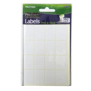 Pro Form Labels 19mm x 27mm Front
