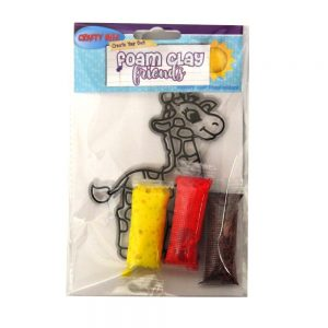 Foam Clay Friends Craft Giraffe Front