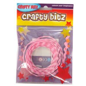 Crafty Bitz Adhesive Felt Wavy Ribbon Pink Front