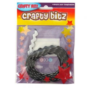 Crafty Bitz Adhesive Felt Wavy Ribbon Black Front