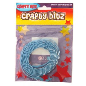 Crafty Bitz Adhesive Felt Wavy Ribbon Blue Front