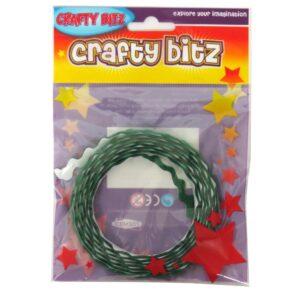 Crafty Bitz Adhesive Felt Wavy Ribbon Green Front