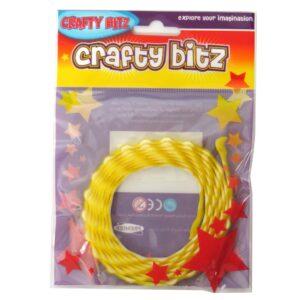 Crafty Bitz Adhesive Felt Wavy Ribbon Yellow Front