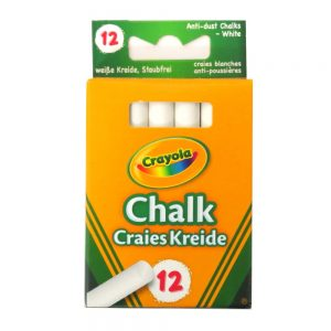 Crayola White Anti Dust Chalks Front
