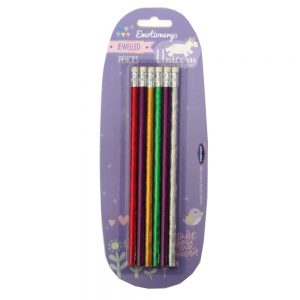 Unicorn Jewlled Pencils Front