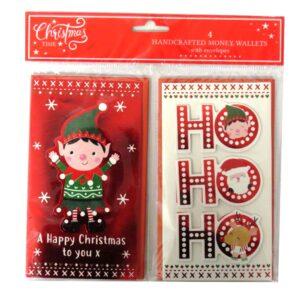 Christmas Time Handcrafted Money Wallets Elf Ho Ho Ho