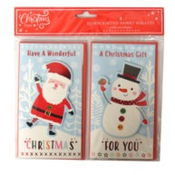Christmas Time Handcrafted Money Wallets Santa Snowman
