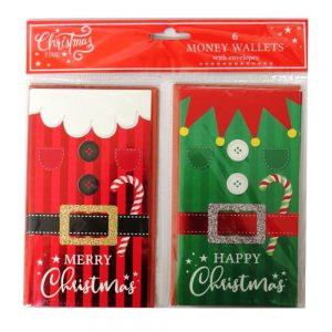 Christmas Time Money Wallets Santa Elf
