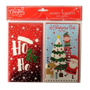 Christmas Time Money Wallets Santa Ho Ho Ho