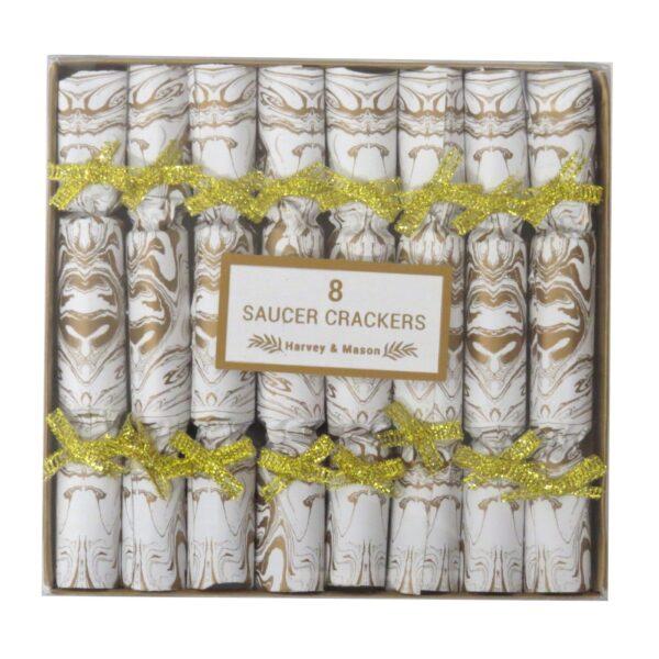 Harvey & Mason Breakfast Saucer Crackers Gold Christmas