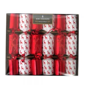 Harvey & Mason Christmas Crackers Red Reindeer Front