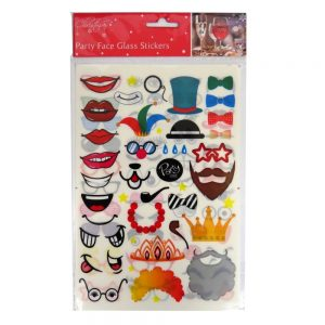 Party Face Glass Stickers Front