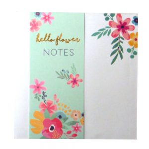 Hello Flower Memo Notepad Front 2