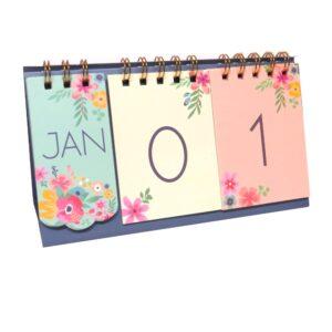 Hello Flower Desktop Month Day Calender