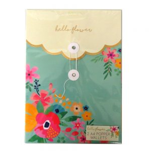 Hello Flower Popper Document Wallets Front