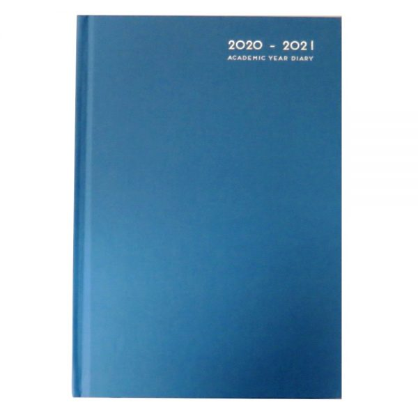 Academic Diary Day a Page 2020 - 2021 Blue Front