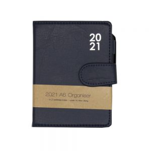 A6 2021 Premium Organiser Diary Dark Blue Front