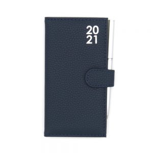 Slim 2021 Organiser Diary With Pen Dark Blue Front