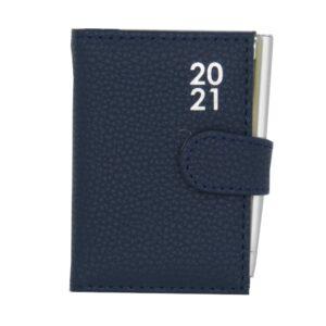 Pocket 2021 Organiser Diary With Pen Dark Blue Front