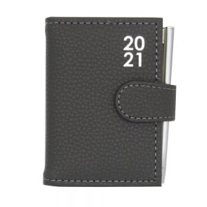 Pocket 2021 Organiser Diary With Pen Grey Front