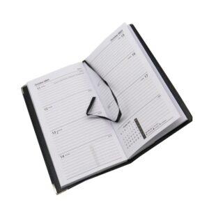 Slim 2021 Organiser Diary Black Front 3