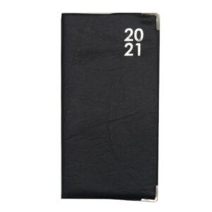 Slim 2021 Organiser Diary Black Front