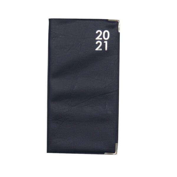 Slim 2021 Organiser Diary Dark Blue Front
