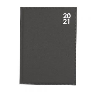 2021 A4 Premium Organiser Diary Day a Page Grey Front