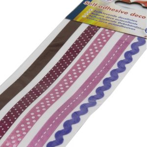 Craft Sensations Deco Ribbon Pack of 5 Pink Purple Brown Front 2