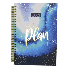 2021 A5 Fashion Organiser Diary Opulent Geo Big Ideas Front 2