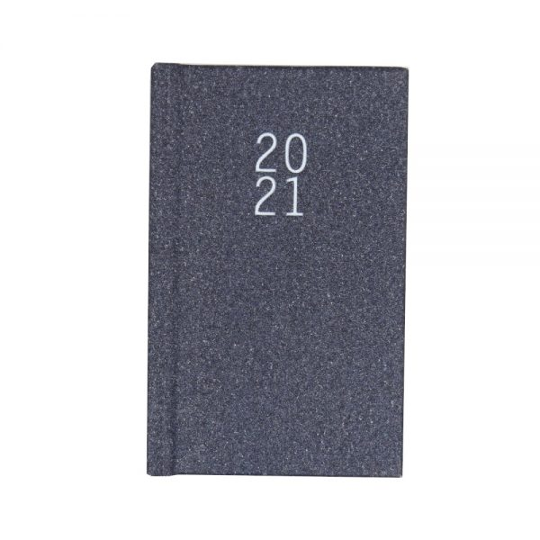 2021 Pocket Glittered Organiser Diary Gorgeous Grey Front
